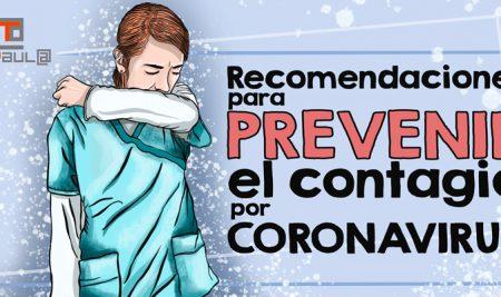 Recomendaciones para prevenir el contagio por coronavirus